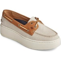 Sperry Top-Sider Women's Boat Shoes TAN/GOLD - Tan & Gold Sparkle A/O Platform Boat Shoe - Women found on Bargain Bro from zulily.com for USD $41.79