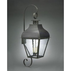 Northeast Lantern Stanfield 40 Inch Tall 1 Light Outdoor Wall Light - 7658-VG-CIM-CLR found on Bargain Bro from Capitol Lighting for USD $896.61