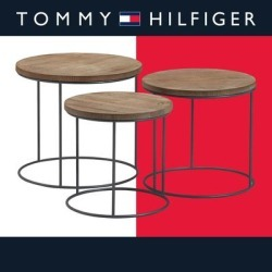 Tommy Hilfiger Berkshire Nesting Side Tables, Set of 3 found on Bargain Bro from Overstock for USD $127.96