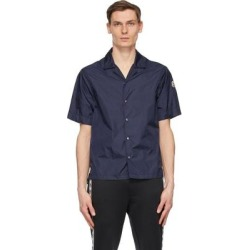 Navy Nylon Short Sleeve Shirt - Blue - Moncler Shirts found on Bargain Bro from lyst.com for USD $319.20