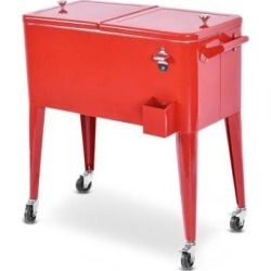 Costway Red Portable Outdoor Patio Cooler Cart found on Bargain Bro from Costway for USD $121.56