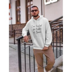 Im Thankful For Free Speech Hoodie Men's -GoatDeals Designs (L), White(cotton) found on Bargain Bro Philippines from Overstock for $35.99