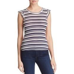 Splendid Womens Topsail Blouse Modal Blend Striped (L), Women's, White/Blue(cotton) found on Bargain Bro from Overstock for USD $13.13