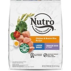 Nutro Natural Choice Large Breed Senior Chicken & Brown Rice Recipe Dry Dog Food, 30-lb bag