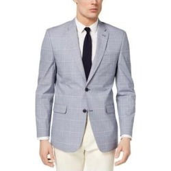 Tommy Hilfiger Mens Trevor Blazer Plaid Jacket - Blue/Red (42L), Men's(cotton) found on Bargain Bro Philippines from Overstock for $88.91