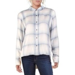 Splendid Womens Button-Down Top Plaid Collared - Coastal Chambray Plaid (S), Women's(rayon) found on Bargain Bro from Overstock for USD $16.60