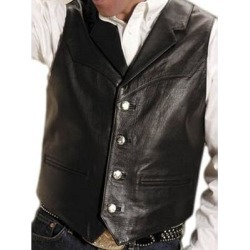 Roper Western Vest Mens Leather Button Brown (M), Men's found on MODAPINS from Overstock for USD $114.94