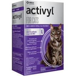 Activyl Flea Treatment for Cats, over 9 lbs, 3 Doses (3-mos. supply) found on Bargain Bro Philippines from Chewy.com for $34.99