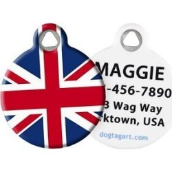Dog Tag Art British Flag Personalized Dog & Cat ID Tag, Large