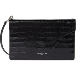 Exotic Croc Embossed Leather Crossbody Bag - Black - Lancaster Shoulder Bags found on MODAPINS from lyst.com for USD $55.00