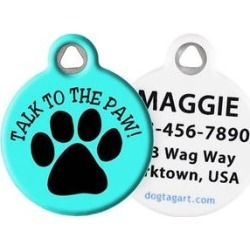Dog Tag Art Talk to the Paw Personalized Dog & Cat ID Tag, Large