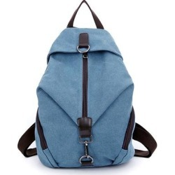JellyYoo Women's Backpacks Gray - Slate Blue Canvas Backpack found on Bargain Bro India from zulily.com for $24.99