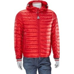 Hooded Down Jacket - Red - Moncler Jackets found on Bargain Bro from lyst.com for USD $585.20