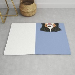 Modern Throw Rug | Australian Shepherd Cute Pastel Aussie Owner Gifts Must Haves For Dog Person Customized Pet Portrait by Petfriendly - 2' x 3' - Society6 found on Bargain Bro from Society6 for USD $29.79
