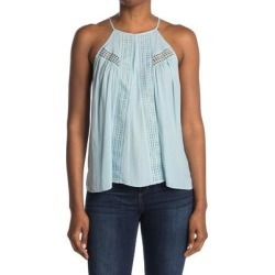 June Halter Eyelet Top - Blue - Ramy Brook Tops found on Bargain Bro from lyst.com for USD $74.48