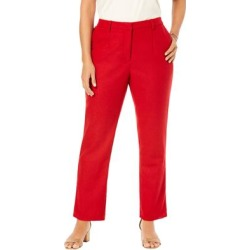 Plus Size Women's Wool-Blend Trousers by Jessica London in Classic Red (Size 28 W) found on Bargain Bro Philippines from Ellos for $79.99
