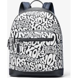 Michael Kors Hudson Graphic Logo Backpack Blue One Size found on Bargain Bro Philippines from Michael Kors for $373.50