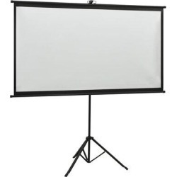 Inbox Zero Bolingbrook Portable Tripod Projector Screen in White, Size 63.78 H x 81.89 W x 0.0 D in | Wayfair 51407 found on Bargain Bro Philippines from Wayfair for $85.99