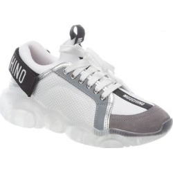 Moschino Teddy Sneaker (35), Women's, White(lace, metallic) found on Bargain Bro from Overstock for USD $300.95