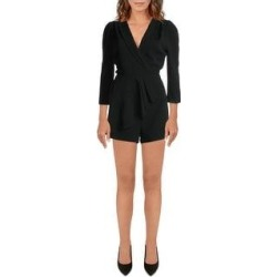 Adelyn Rae Womens Romper Woven Pleated - Black (M), Women's(polyester) found on MODAPINS from Overstock for USD $21.64