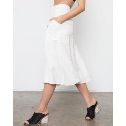 Freya Button Down Linen Skirt - White - Rails Skirts found on MODAPINS from lyst.com for USD $96.00