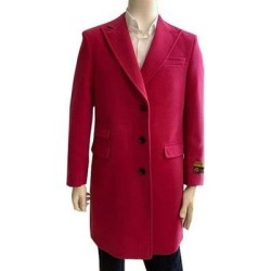 Alberto Peaky-03 Wool Three Quarter Hot Pink Color Car Coat Topcoat For Men (50 Chest), Men's, Red found on MODAPINS from Overstock for USD $199.99