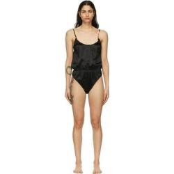 Black Silk Gv Signature Bodysuit - Black - Versace Lingerie found on Bargain Bro from lyst.com for USD $456.00