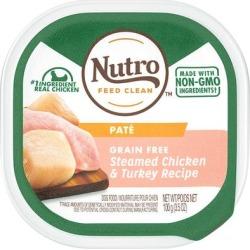 Nutro Grain Free Pate Steamed Chicken & Turkey Recipe Wet Dog Food, 3.5 oz.
