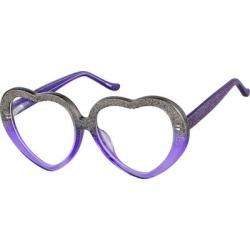 Zenni Kids Heart-Shaped Prescription Glasses Purple Tortoiseshell Plastic Frame found on Bargain Bro India from Zenni Optical for $19.95