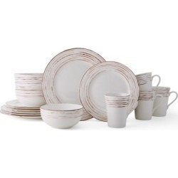 Mikasa Delray Antiqued Bone 16PC Dinnerware Set (Service for 4) found on Bargain Bro India from Overstock for $124.99
