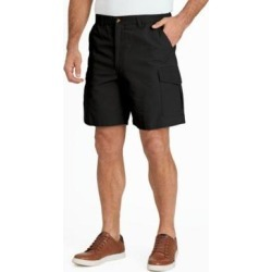 Men's Scandia Woods Relaxed-Fit Full-Elastic Cargo Shorts, Black 38 found on Bargain Bro India from Blair.com for $26.99