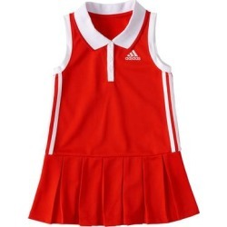 adidas Girls' Casual Dresses VIVID - Vivid Red Logo Polo Sleeveless Dress - Toddler & Girls found on Bargain Bro Philippines from zulily.com for $18.99