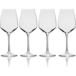 Mikasa Melody 15OZ White Wine Glass (Set of 4) (Set of 4 - Clear)(Crystal) found on Bargain Bro from Overstock for USD $26.59
