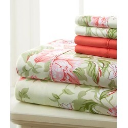 Spirit Linen Home Sheet Sets ROSE - Rose Floral Scroll Palazzo Six-Piece Sheet Set found on Bargain Bro Philippines from zulily.com for $21.99