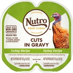 Nutro Perfect Portions Cuts in Gravy Real Turkey Wet Cat Food, 2.64 oz., Case of 24, 24 X 2.64 OZ