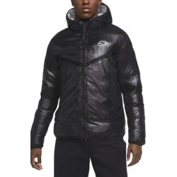 Sportswear Windrunner Repel Hooded Puffer Jacket - Black - Nike Jackets found on Bargain Bro from lyst.com for USD $190.00