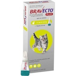 Bravecto Plus For Small Cats (2.6 To 6.2 Lbs) Green 1 Doses found on Bargain Bro Philippines from Canadapetcare.com for $29.99