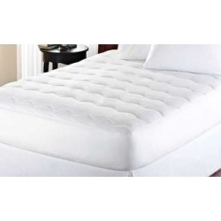 kathy ireland Microfiber Water Proof Mattress Pad - White (Full) found on Bargain Bro from Overstock for USD $27.34