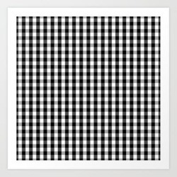 Art Print | Classic Black & White Gingham Check Pattern by Podartist - X-Small - Society6 found on Bargain Bro Philippines from Society6 for $13.29
