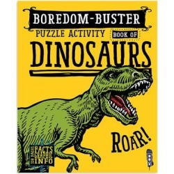Sterling Art Activity Books - Boredom-Buster Dinosaur Puzzle Activity Book found on Bargain Bro India from zulily.com for $5.49