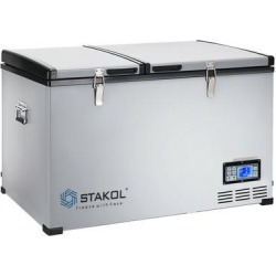 Costway 84-Quart Portable Compressor Camping Electric Car Cooler found on Bargain Bro from Costway for USD $559.32