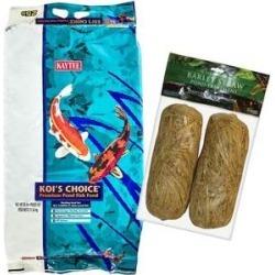 Kaytee Koi's Choice Premium Fish Food, 25-lb bag & Summit Clear-Water Barley Straw Pond Treatment