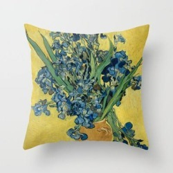 Throw Pillow   Vincent Van Gogh - Irises Still Life by Elegant Chaos Gallery - Cover (16