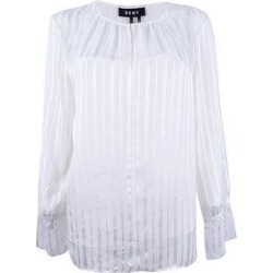 DKNY Women's Striped Bell-Sleeve Top (Ivory - M)(polyester) found on Bargain Bro Philippines from Overstock for $44.99