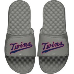 Minnesota Twins ISlide Youth Cooperstown Wordmark Logo Slide Sandals - Gray found on Bargain Bro Philippines from Fanatics for $49.99