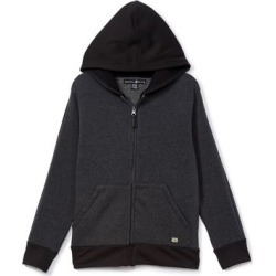 Beverly Hills Polo Club Boys' Sweatshirts and Hoodies CHARCOAL - Heather Charcoal Contrast-Trim Zip-Front Fleece Hoodie - Boys found on Bargain Bro India from zulily.com for $9.99