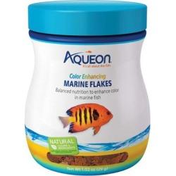 Aqueon Color Enhancing Marine Flakes Fish Food, 1.02 oz.