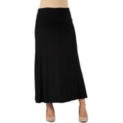 24seven Comfort Apparel Womens Fit Elastic Waist Maternity Maxi Skirt found on Bargain Bro Philippines from Overstock for $29.69
