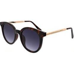 Oscar de la Renta Women's Sunglasses Dark - Dark Demi Tortoise & Goldtone Round Sunglasses found on MODAPINS from zulily.com for USD $16.99