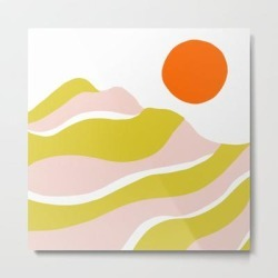 Metal Art Print   Sierra Mountain Sunset by Sunshinecanteen - LARGE - Society6 found on Bargain Bro from Society6 for USD $100.92